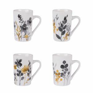 Coffret de 4 Mugs Flora