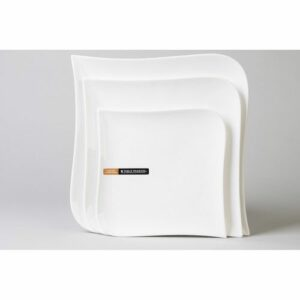 Assiette plate mélody Dimensions : 25,50 x 25,50 x 2,50 cm