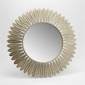 Miroir plumes en métal 70cm de diamètre