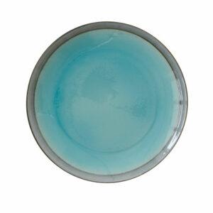 """Assiette dessert en grès """"Origine bleue"""" D20cm"""