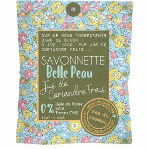 Savonnette – Belle peau 80 Gr -PUR JUS DE CORIANDRE FRAIS