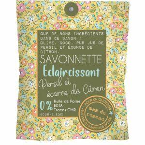 Savonnette – Eclaircissant 80 Gr – PUR JUS DE PERSIL ET ÉCORCE DE CITRON Olive