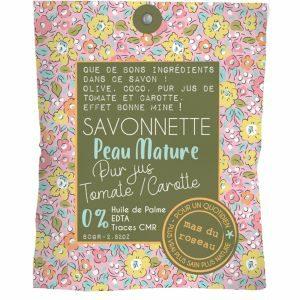 Savonnette – Peaux matures 80 Gr – Pur jus de tomate et carotte