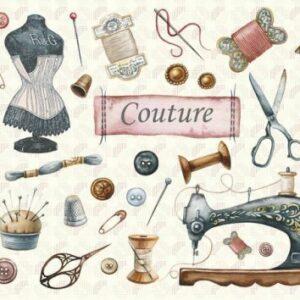 Cahier illustré Couture