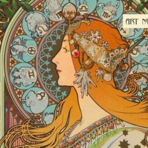 Cahier illustré Art Nouveau