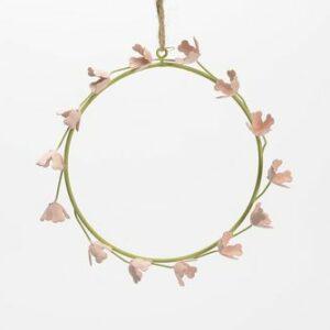 Couronne de petites fleurs 15cm de diamètre