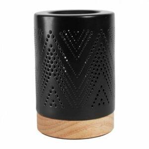 Lampe porcelaine et bois Dimensions: 11 X 16cm