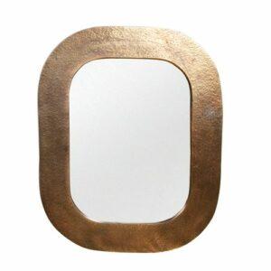 Miroir bords métallisés façon vieil-or