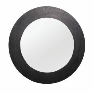 miroir aux rebords métalliques noir