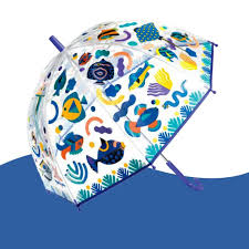 Parapluie magique qui change de couleur sous la pluie
