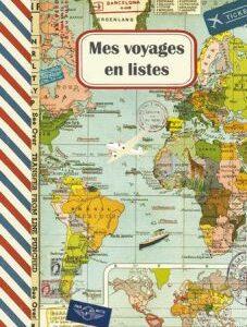 Cahier illustré Mes voyages en listes