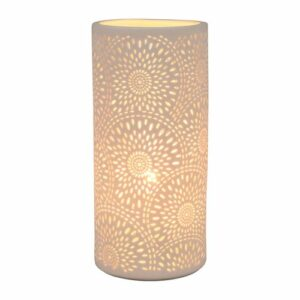 """lampe blanche """"Rosace"""" 11 X 24cm"""