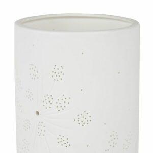 "Lampe blanche ""Fleurs blanches"" 25 X 11cm"