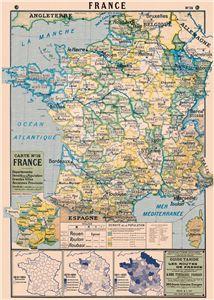 Affiche Cavallini carte de France