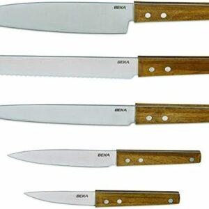 Bloc en bois d'acacia + 5 couteaux Nomad