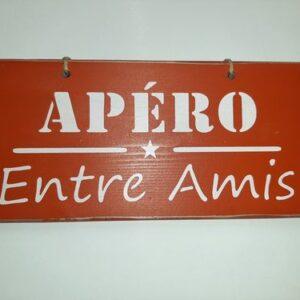 """Pancarte """"Apéro entre amis + étoile"""""""