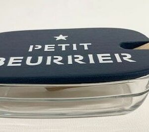 """Beurrier en verre Duralex, couvercle """"ÉTOILE PETIT BEURRIER"""""""