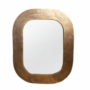 Miroir rectangle 60 x 76 cm laiton antique