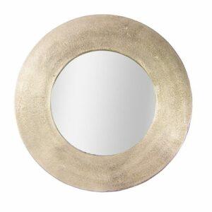 Miroir rond en métal doré 50 cm