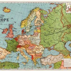 Affiche carte de l'Europe 50×70 cm