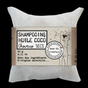 Shampoing solide Huile coco cheveux secs