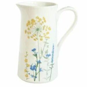 """Pot à eau en porcelaine 1L """"Milles Fleurs"""""""