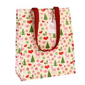 """Sac à provision """"Noël"""" Largeur: 15cm, Longueur: 34cm, Hauteur: 40cm"""