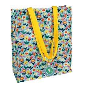 """Sac à provisions """"Butterfly"""" en plastic reciclé Largeur: 15cm, Longueur: 34cm, Hauteur: 40cm,"""