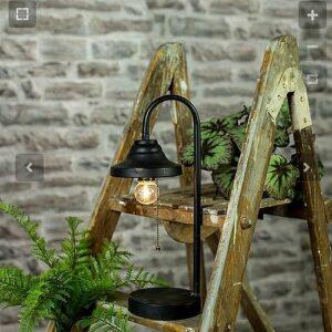 """Lampe à Led """"sans prise électrique. métal noir et aspect rouillé 40,50cm"""