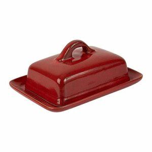 Beurrier en grès rouge pour 250g