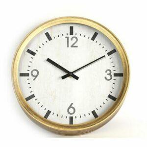 """Horloge """"Fleming"""" 30cm dorée mat"""